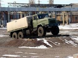 КрАЗ-6322 на испытательном полигоне
