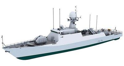 Ракетный корабль «Торнадо» с ПКР «Уран-Э» (версия 2)