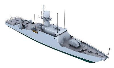 Ракетный корабль «Торнадо» с ПКР «Яхонт» (версия 3)