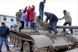 Захваченный танк в Ливии