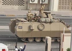 Бронетехника в столице Бахрейна