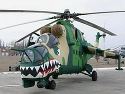 Ми-35П на испытаниях в России