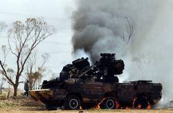 Подбитая ЗРК Оса ПВО Ливии