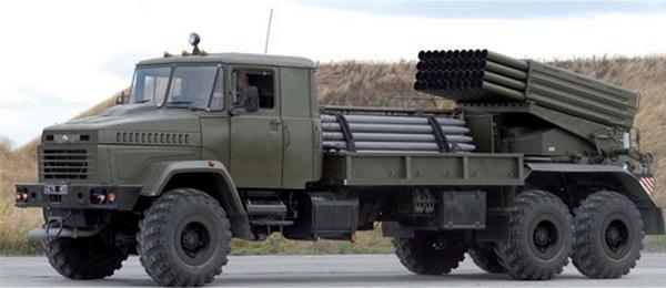 KрАЗ-6322РА «Бастион-02» с дополнительным боекомплектом ракет