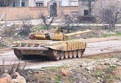 Сирийский Т-72 в Хомсе