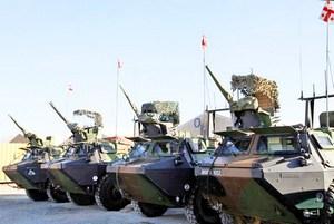 БТР-ы VAB в составе грузинского контингента в Афганистане