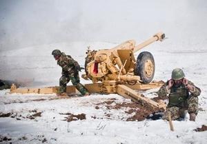 Гаубица Д-30 на учениях в Афганистане