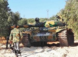 Захваченный танк в Сирии