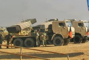 122-мм РСЗО SAKR на шасси автомобиля КамАЗ-43118. Снимок 2012 года (с) www.facebook.com