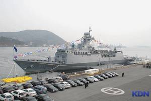 FFG 811 Incheon типа FFX (Ulsan). 17.01.2013 (с) Korean Defence Network
