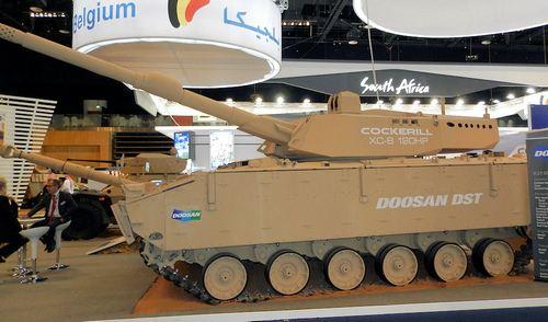 Cockerill XC-8 и гусеничное шасси БМП K21