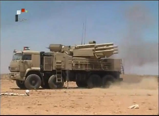 Панцирь-С1 вооруженных сил Сирии (с) сирийское ТВ