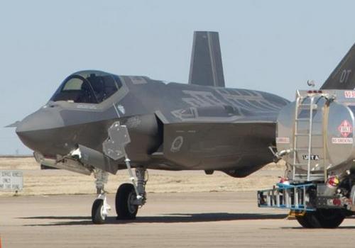 F-35 в аэропорту Лаббок (c) KAMC News