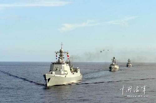 Маневры китайского Южного флота в районе островов Спратли