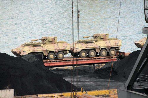 БТР-4 перед отправкой в Ирак (c) www.048.ua