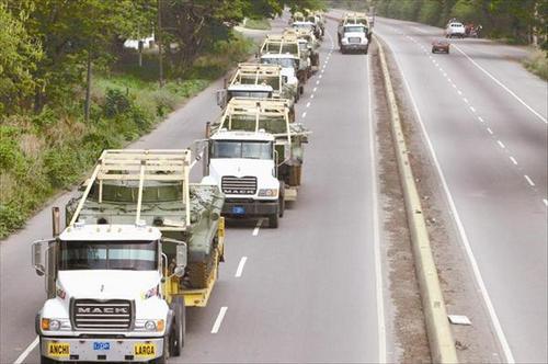 Транспортировка БМП-3 в Венесуэле (c) Andis Silva