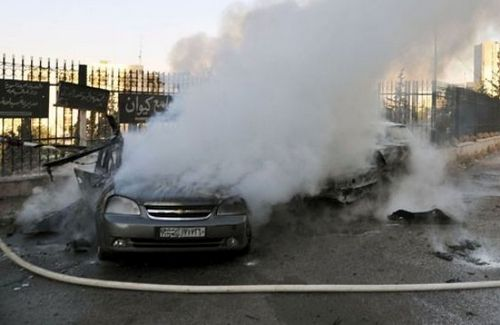 минометный обстрел в Киван окрестностях Дамаска