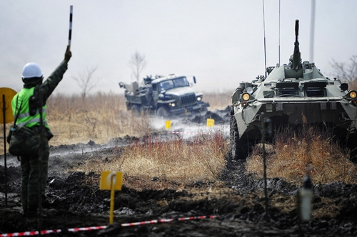 Военные учения на Дальнем Востоке