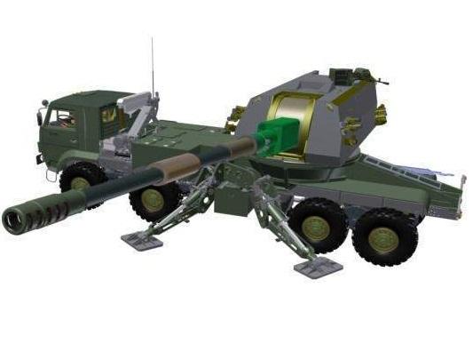 3D модели в первой проработке монтажа 152-мм артиллерийской системы