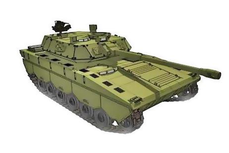 Предварительное изображение концепции среднего танка (c)  PT Pindad
