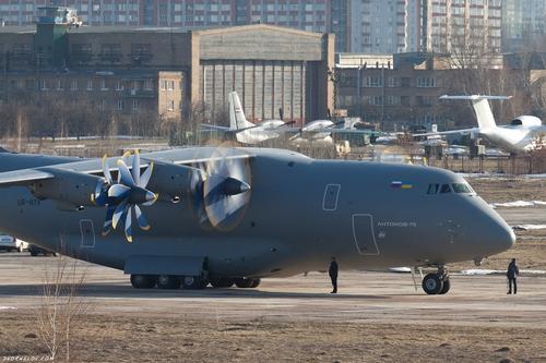 Ан-70 UR-NTK, перегон из UKKT в GML (c) kornilov.com