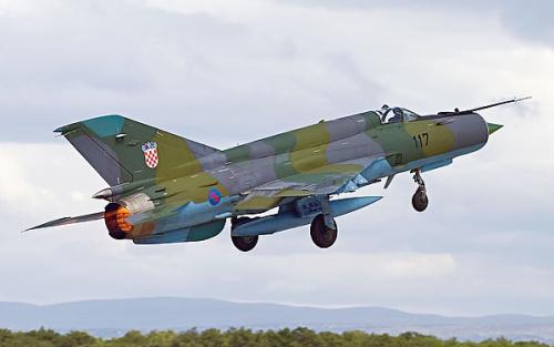 МиГ-21бис ВВС Хорватии