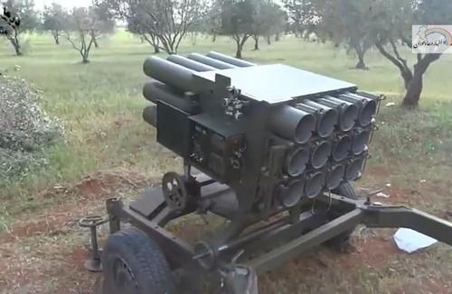 Хорватская 128-мм РСЗО RAK-12 у сирийских боевиков