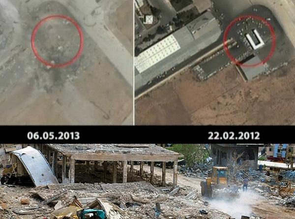 Спутниковое фото уничтоженной Израилем военной базы под Дамаском