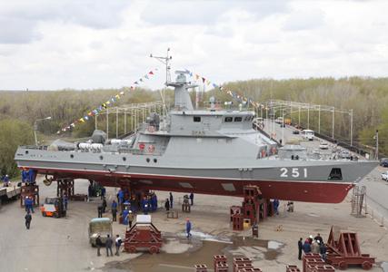 ракетно-артиллерийский корабль Орал (c) пресс-служба министерства обороны Казахстана