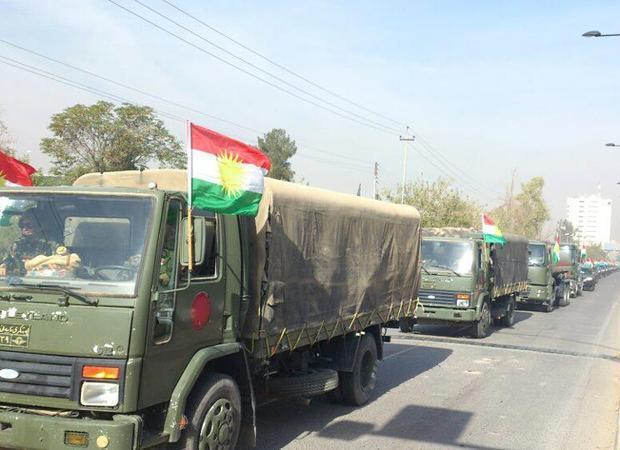 Курдские войска пешмерга