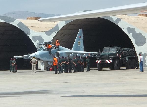 Штурмовик Су-25УБ ВВС Перу