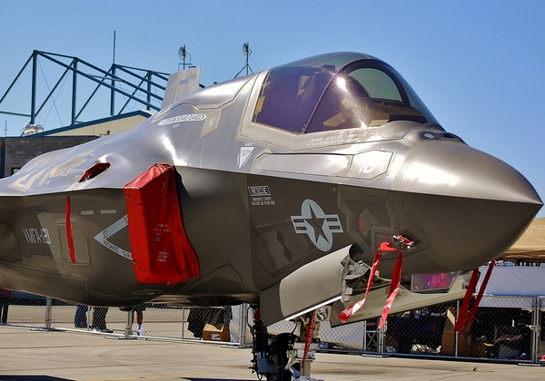 Один из F-35B эскадрильи VMFA-121