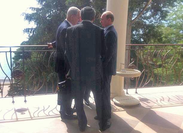 Премьер-министр Израиля  Нетаньяху во время его встречи с президентом России Владимиром Путиным