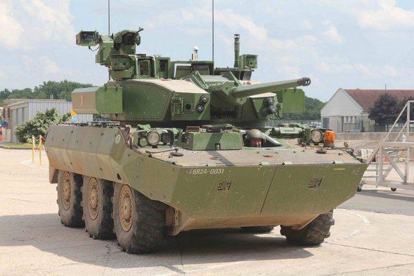 боевой модуль Nexter 40 CTA установленный на AMX10RC