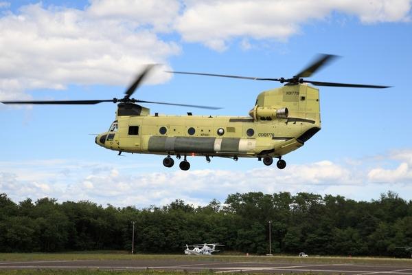 Первый полет ICH-47F Chinook итальянской армии
