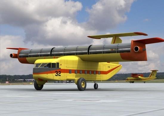 Самолёты с валообразными крыльями