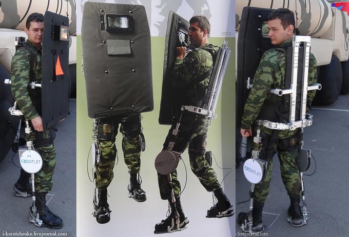 модификация экзоскелета ExoAtlet P-1 (c) Военный дневник Игоря Коротченко
