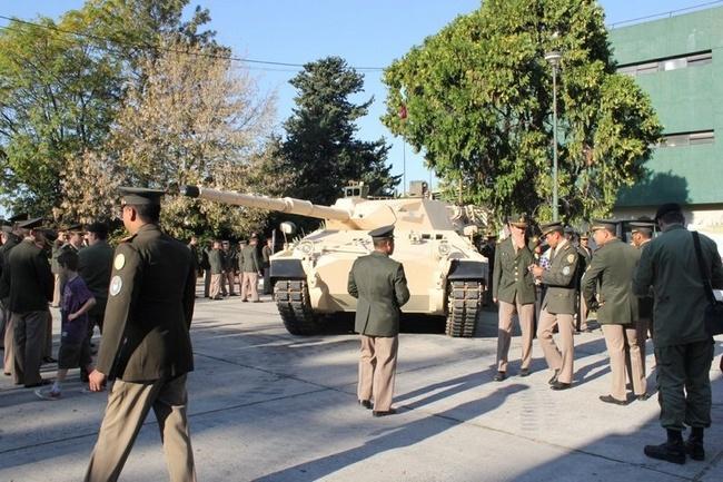 Первый прототип модернизированного аргентинского танка ТАМ 2С