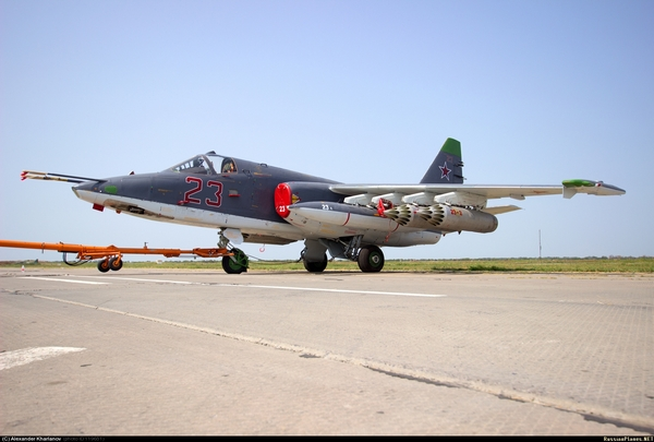 Су-25СМ3, аэродром Приморско-Ахтарск