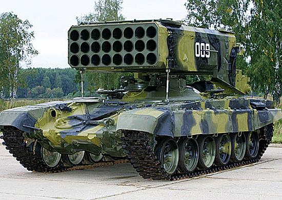 Тяжелая огнеметная система ТОС-1А. Источник: structure.mil.ru