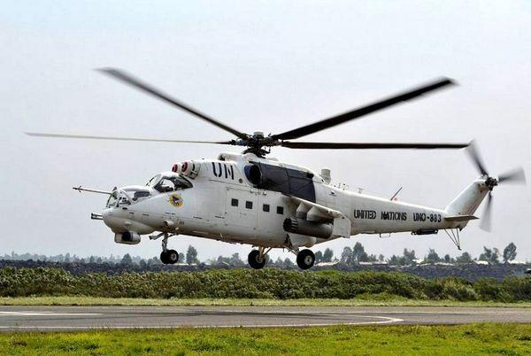 Ми-24 18-го отдельного вертолетного отряда Вооруженных Сил Украины