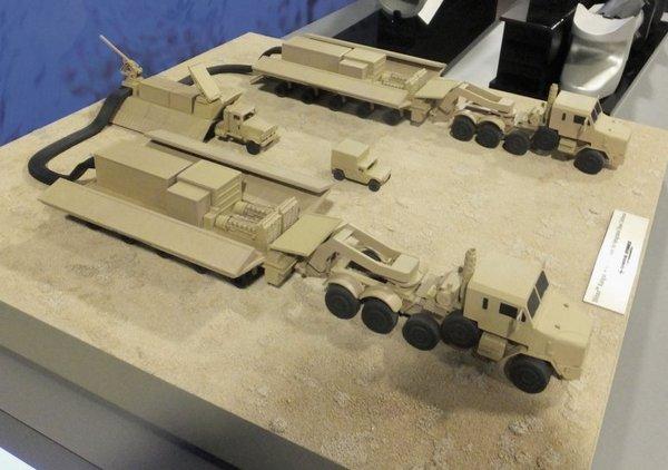 Макет концепции наземной электромагнитной пушки General Atomics Blitzer
