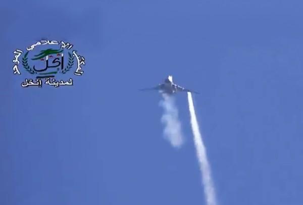 Су-22 ВВС Сирии после попадания