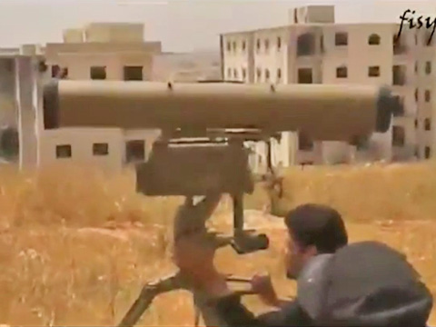 Ракеты Корнет в Сирии