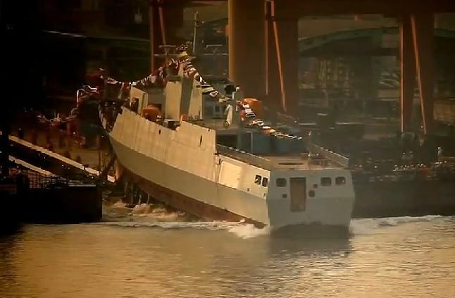 Спуск на воду корвета (малого фрегата) проекта 056  (c) 56.com