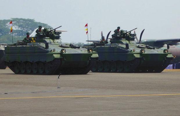 Marder 1A3 сухопутных войск Индонезии на параде 5 октября 2013 года