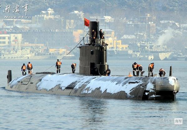 Китайская подводная лодка проекта 035G. 17.01.2013 (c) Li Zhikai / chinamil.com.cn / navy.81.cn