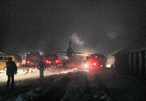 Ан-12 разбился на аэродроме Иркутск-2