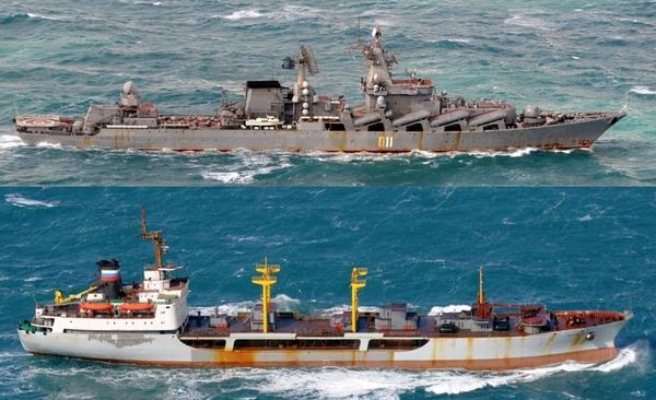 военные корабли вблизи границ Японии