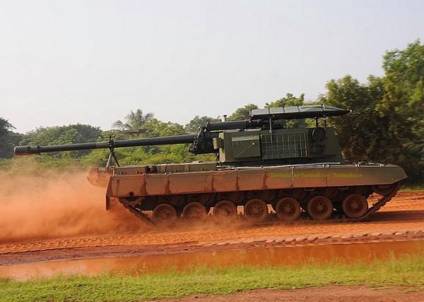 САУ на базе танка Arjun  MK-1